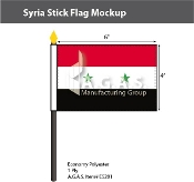 Syria Stick Flags 4x6 inch