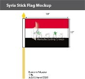 Syria Stick Flags 12x18 inch