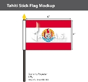 Tahiti Stick Flags 4x6 inch
