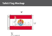 Tahiti Flags 12x18 inch