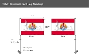 Tahiti Car Flags 10.5x15 inch Premium