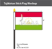 Tajikistan Stick Flags 4x6 inch