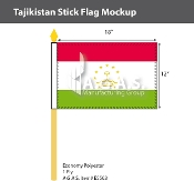 Tajikistan Stick Flags 12x18 inch