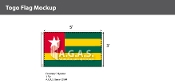 Togo Flags 3x5 foot