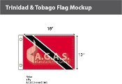Trinidad Tobago Flags 12x18 inch