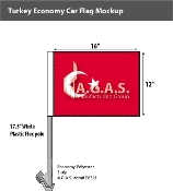 Turkey Car Flags 12x16 inch Economy