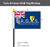 Turks & Caicos Stick Flags 4x6 inch