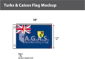 Turks & Caicos Flags 12x18 inch