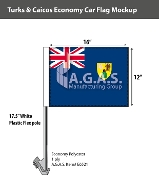 Turks & Caicos Car Flags 12x16 inch Economy