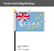 Tuvalu Stick Flags 4x6 inch