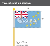 Tuvalu Stick Flags 12x18 inch
