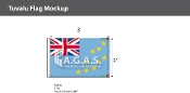 Tuvalu Flags 2x3 foot