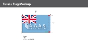 Tuvalu Flags 5x8 foot