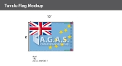 Tuvalu Flags 8x12 foot