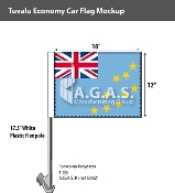 Tuvalu Car Flags 12x16 inch Economy