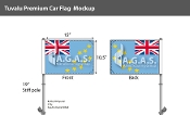 Tuvalu Car Flags 10.5x15 inch Premium