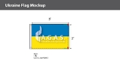 Ukraine Flags 2x3 foot