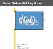 United Nations Stick Flags 12x18 inch