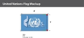 United Nations Flags 5x8 foot