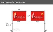 USSR Car Flags 10.5x15 inch Premium