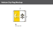 Vatican City Flags 2x2 foot