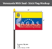 Venezuela Stick Flags 4x6 inch (with seal)