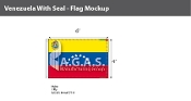 Venezuela Flags 4x6 foot (with seal)