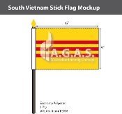 Vietnam South Stick Flags 4x6 inch