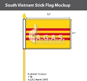 Vietnam South Stick Flags 12x18 inch