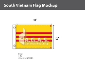 Vietnam South Flags 12x18 inch