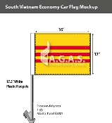 Vietnam South Car Flags 12x16 inch Economy