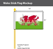 Wales Stick Flags 12x18 inch