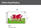 Wales Flags 12x18 inch