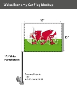 Wales Car Flags 12x16 inch Economy