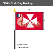 Wallis & Futuna Stick Flags 4x6 inch