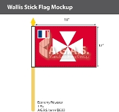 Wallis & Futuna Stick Flags 12x18 inch