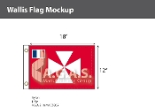 Wallis & Futuna Flags 12x18 inch
