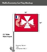 Wallis & Futuna Car Flags 12x16 inch Economy