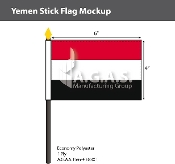 Yemen Stick Flags 4x6 inch