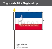 Yugoslavia Stick Flags 4x6 inch