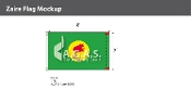 Zaire Flags 5x8 foot