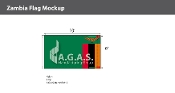 Zambia Flags 6x10 foot