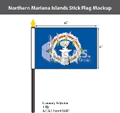 Northern Mariana Islands Stick Flags 4x6 inch