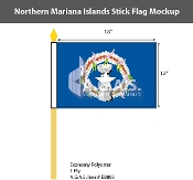 Northern Mariana Islands Stick Flags 12x18 inch