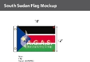 Sudan South Flags 12x18 inch