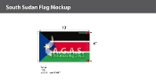 Sudan South Flags 6x10 foot
