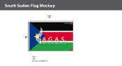 Sudan South Flags 8x12 foot