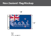 New Zealand Flags 12x18 inch