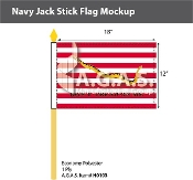 First Navy Jack Stick Flags 12x18 inch