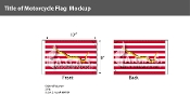 First Navy Jack Motorcycle Flags 6x9 inch